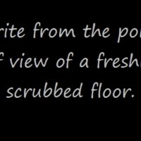 Prompt #72: A freshly scrubbed floor