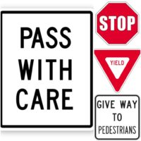 Prompt #115: Traffic / Pedestrian signs