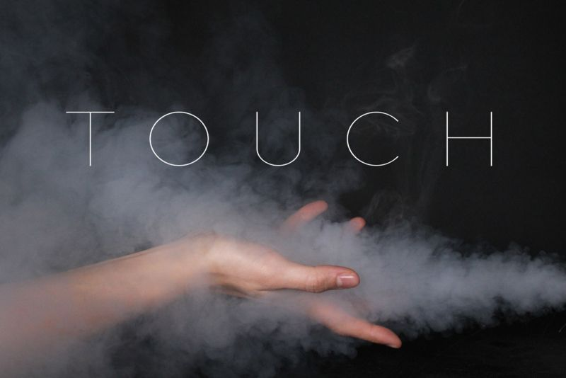 image with a hand and the word 'touch'
