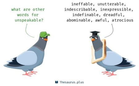 an image showing two doves talking about the meaning of the word umentionable
