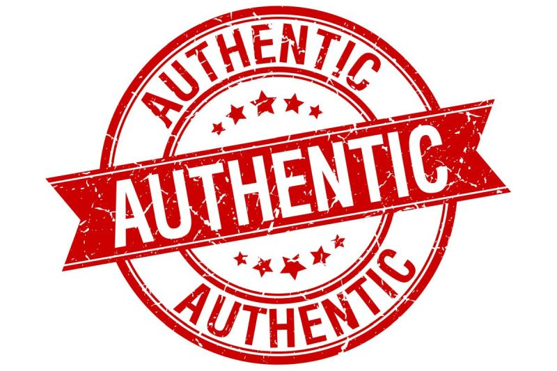 sign saying 'authentic'