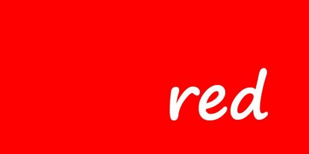 red background with the word red written in white