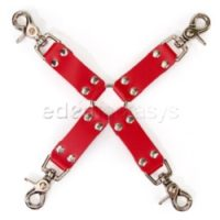 Red Leather Hog Tie