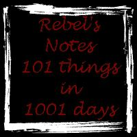 Fifth update: 101 things in 1001 days