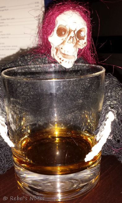 Skelly sipping Master T's whisky