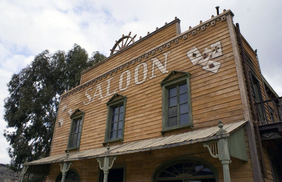 An image of an old-fashioned saloon, to go with the story 'Fucking Cool'.