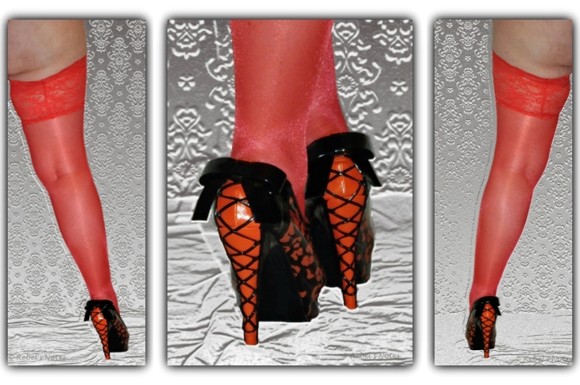 20140404-000 Sinful Sunday competition triptych red stockings heels