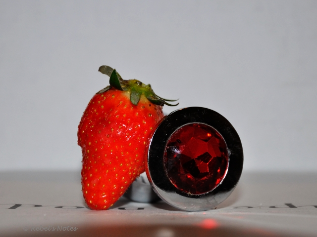 Strawberry and buttplug
