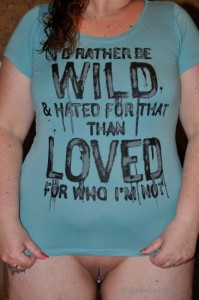 Shirt with motto