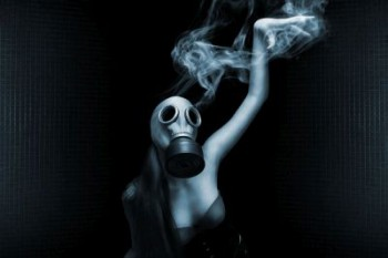 Image of woman with gas mask