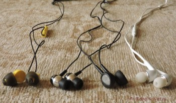 Earphones from left to right: Ladobi, Icidi, Philips, Samsung.