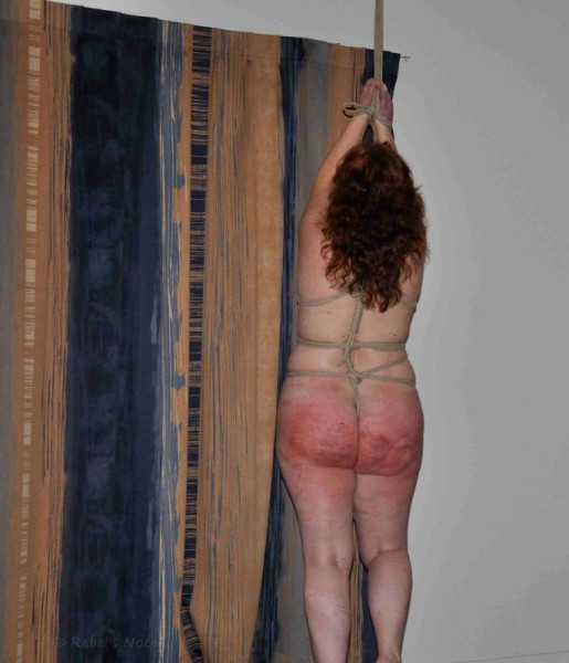 Red ass after several spankings and whippings.