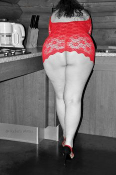 Red lace color splash