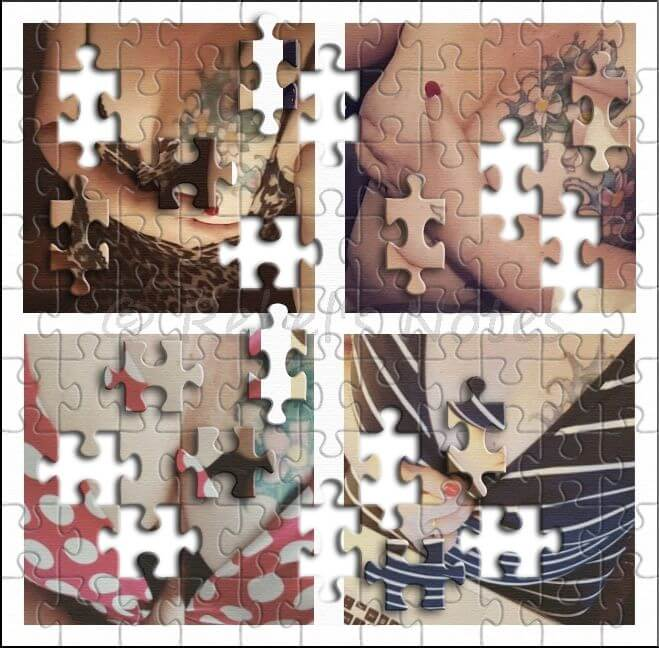 Four photos as a puzzle