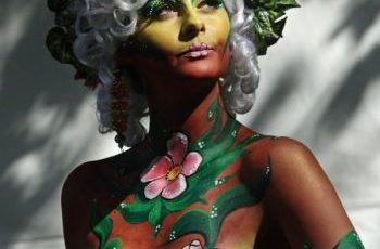Flower body paint