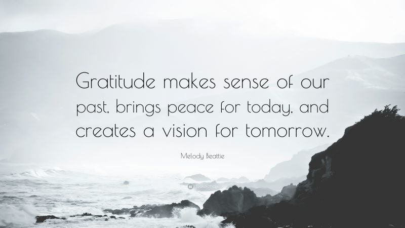 A quote about gratitude by Melody Beatle, to go with my post about questions and answers using Mary Oliver's poem.