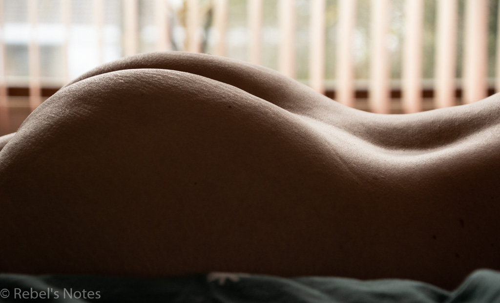 Image of my backside, with a bokeh effect in the background
