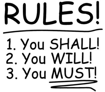an image saying 'rules'