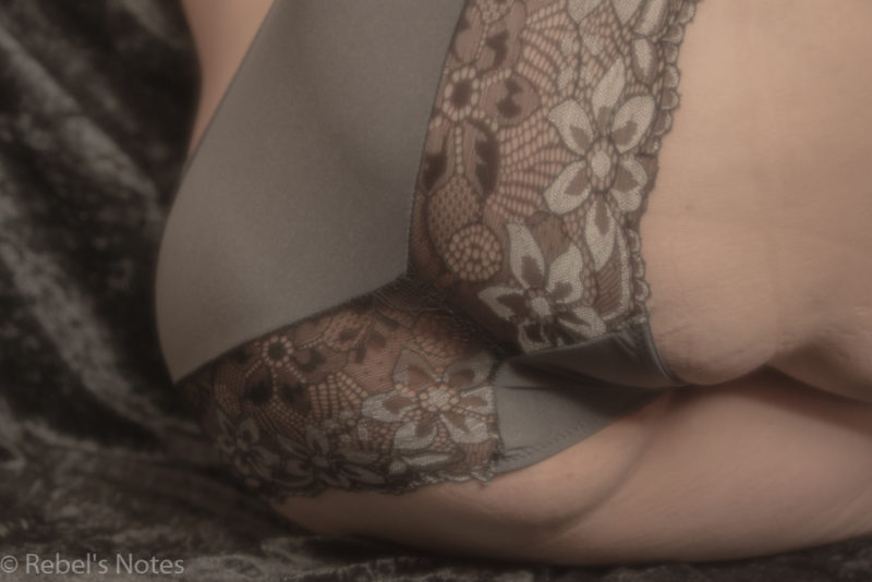 An image of my bottom wearing knickers and a soft focus filter over it.