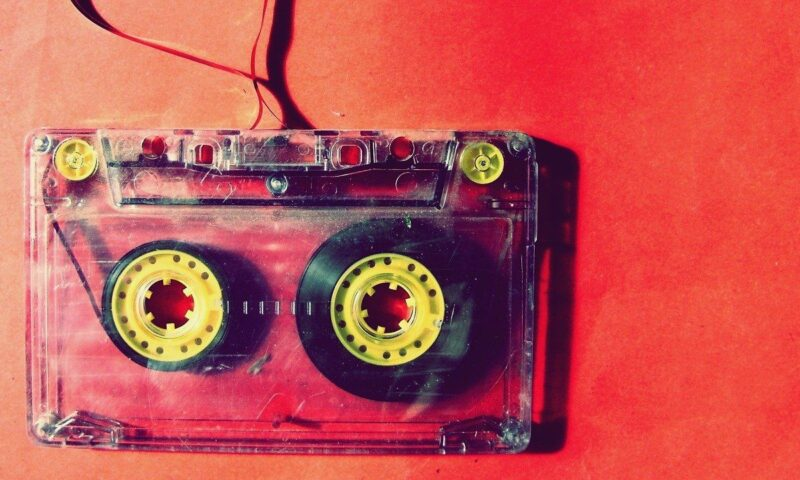 An image of an old cassette tape, to go with my post about music  being therapy.