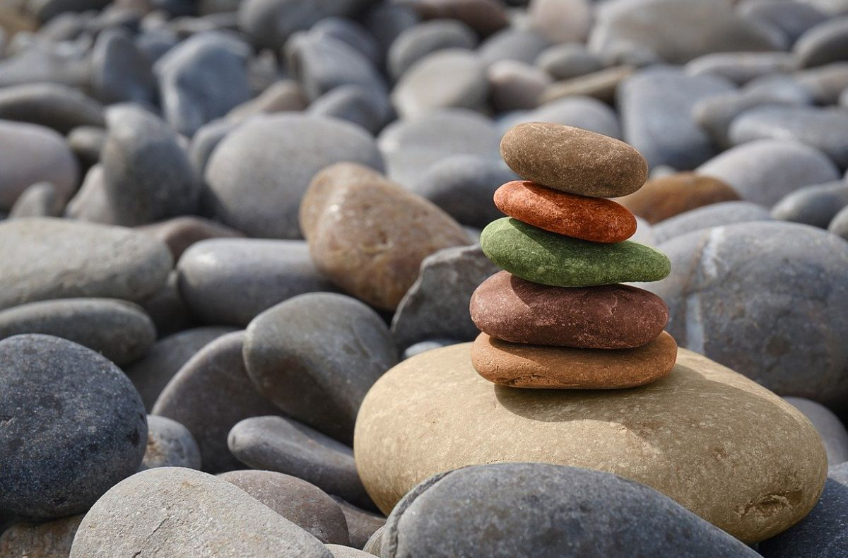 A photo of stones stacked on each other to go with the post about patience.