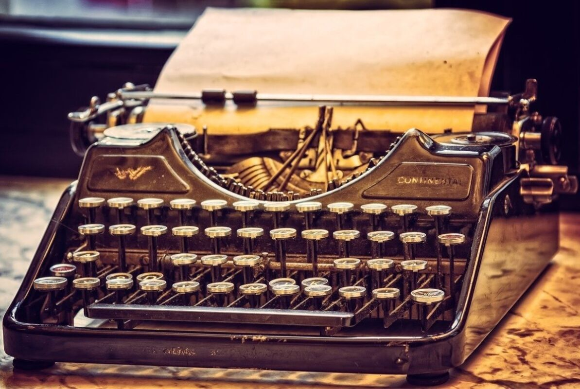 An image of an old typewriter to go with my story about typing errors and the punishment that followed.