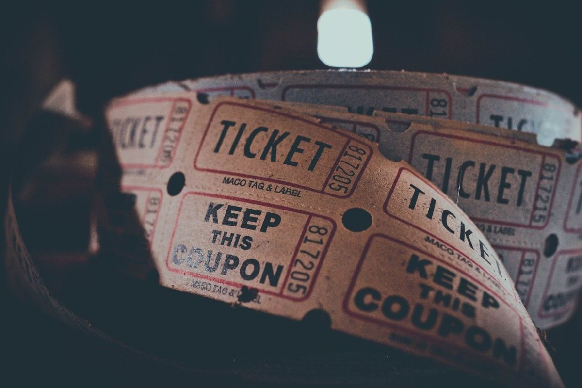 An image of old-fashioned tickets for the movies, to go with my edited story, The cinema.