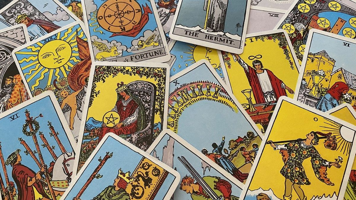 An image of tarot cards which can be used when you want your future predicted.